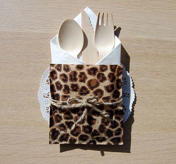 10 Mini Leopard Print Bags by FoxandHoundPaperie on Etsy, $4.00