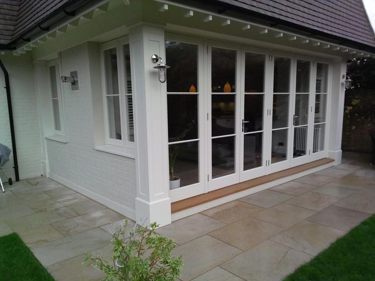 Accoya flush casement windows and French door set