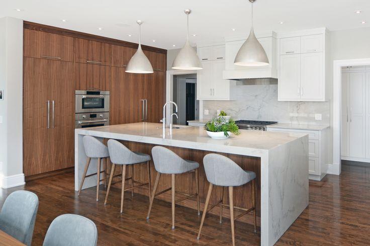 Contemporary Lakehouse Kitchen by Johnson & Associates Interior Design