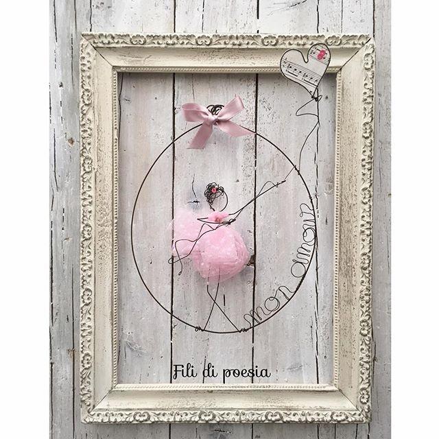 Pink angel Mon amour  Tulle e fil di ferro