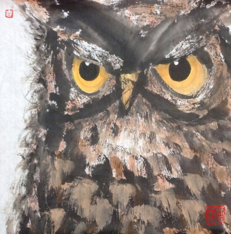 OWL Painting - ATTITUDE Size : W680 x L680mm          ( Include Wooden Frame ) Copyright by: jtcreations.net taywusiew@gmail.com (6)0122677564