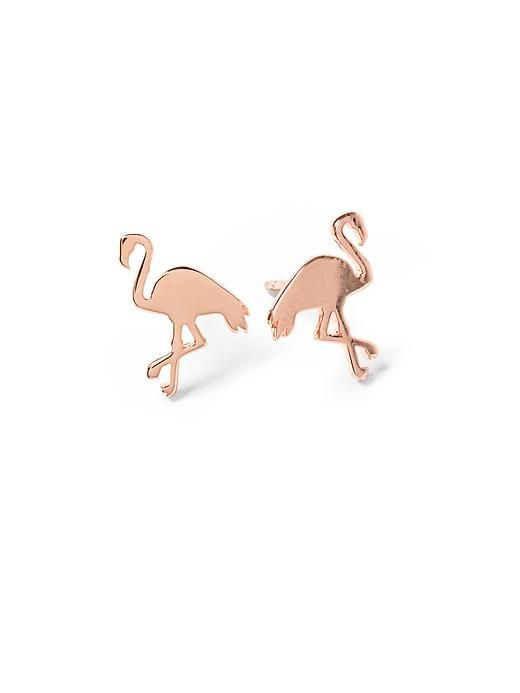 Darling flamingo stud earrings http://rstyle.me/~2FeAP