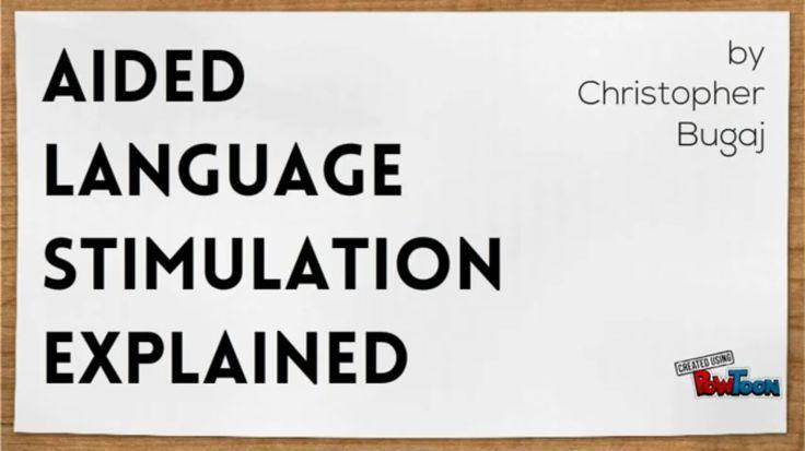 Aided Language Stimulation Explained by Christopher Bugaj