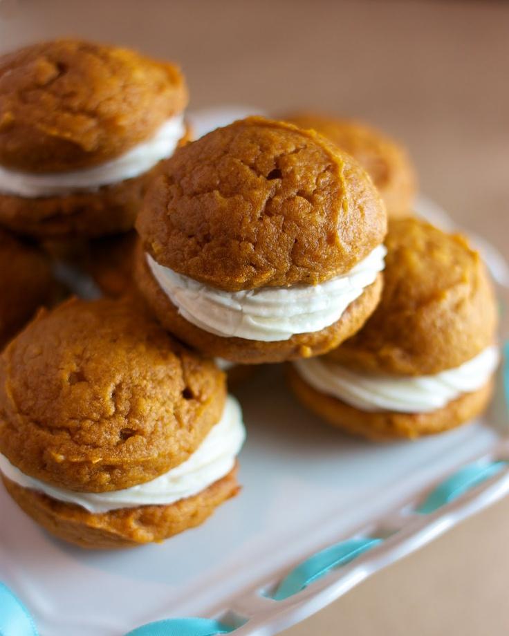 Pumpkin Whoopie Pies with Maple Cream Cheese Filling | SpeedbumpKitchen