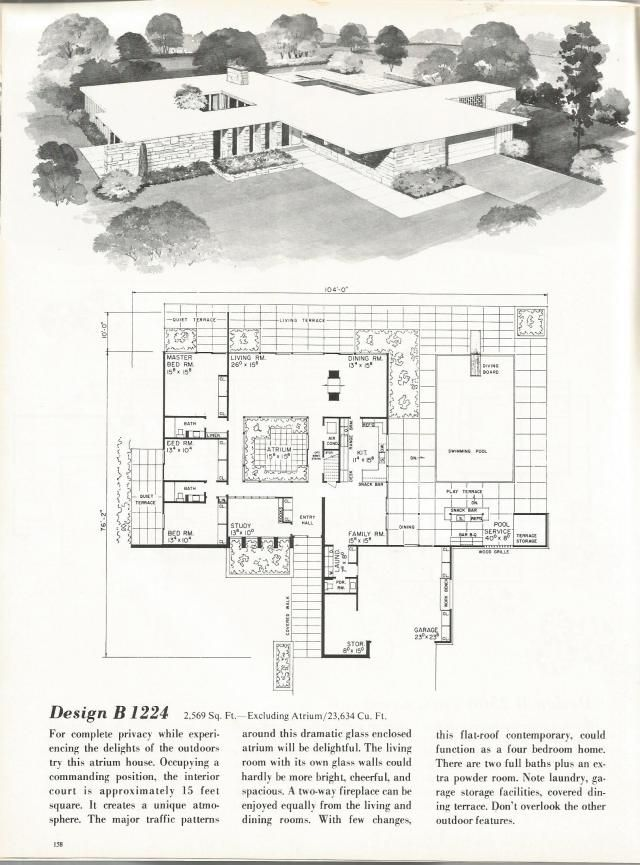 vintage house plans mid century homes 1960s homes mid