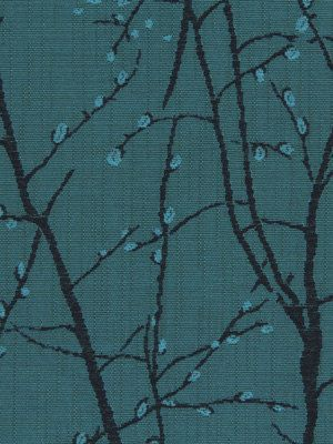 Turquoise Fabric Upholstery -  Modern Abstract Fabric with Trees - Fabric for Furniture - Home Decor Turquoise
