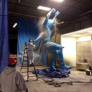 Chisel 3D builds a lifelike sculpture of NBA All-Star Paul Millsap for a 3D billboard.