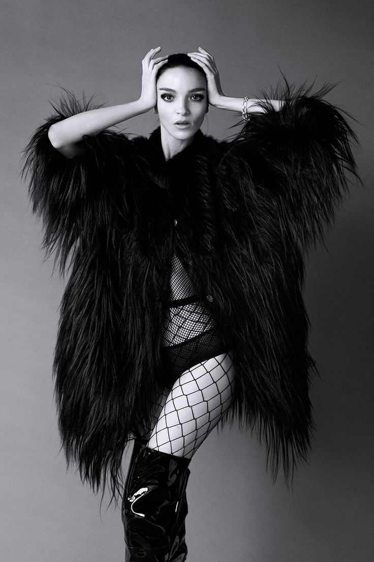 Mariacarla Boscono as one of Carine Roitfeld's 19 icons for BAZAAR's September issue. See the full shoot here.