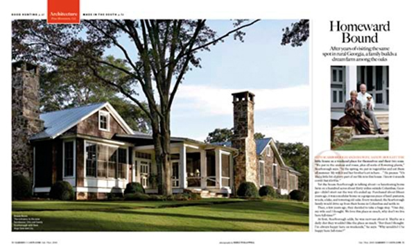 Love the brown & white contrast; chimneys; porch; roof lines; stone work  Emily Jenkins Followill PhotographyLakes House, Historical Concept, Exterior, Southern Home, Fantasy House, Gardens And Guns, Emily Followill, Homeward Bound, Dreams Farms
