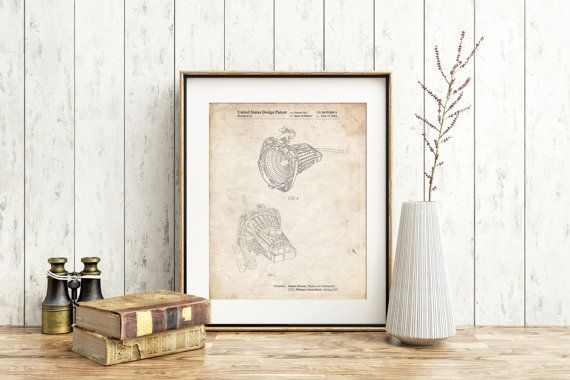Stage Spotlight Patent Poster Movie Room Decor Theater Gift