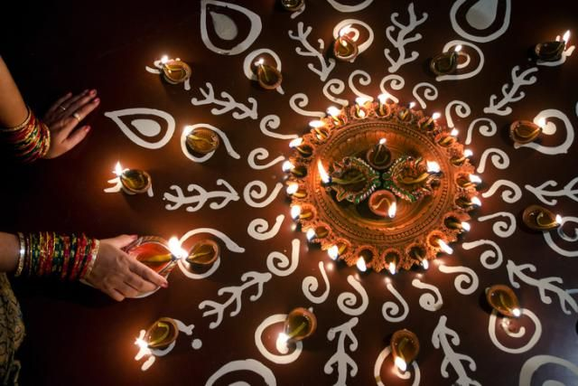 Celebrating Diwali sees the whole country glowing under the light of lamps, candles, and fireworks. See the pictures in this Diwali photo gallery, which show the heartwarming beauty of the occasion.