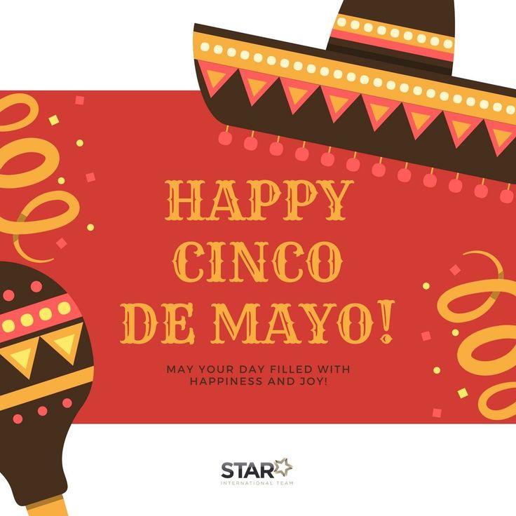 Hoje, 5 de Mayo, é um dia de celebração para o México e Estados Unidos! 🌮 O feriado celebra a vitória do México sobre a França na Batalha de Puebla em 1862. Em cidades como Los Angeles, Chicago e Houston, grandes festivais são realizados com desfiles, piñatas, música mariachi e comida e bebidas mexicanas. Fonte: http://www.express.co.uk/news/world/800593/cinco-de-mayo-what-is-celebrate-mexico-us-history-independence-day 🎊 Feliz 5 de Mayo!