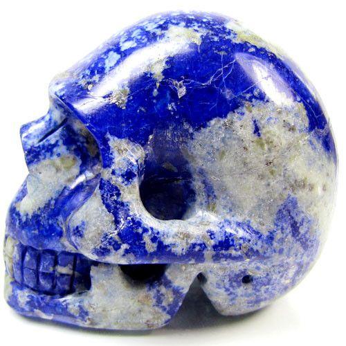 LAPIS LAZULI  SKULL CARVING  972 CTS    AAT2158 crystal skull, gemstone skulls, mayan skull , lapis lazuli skulls