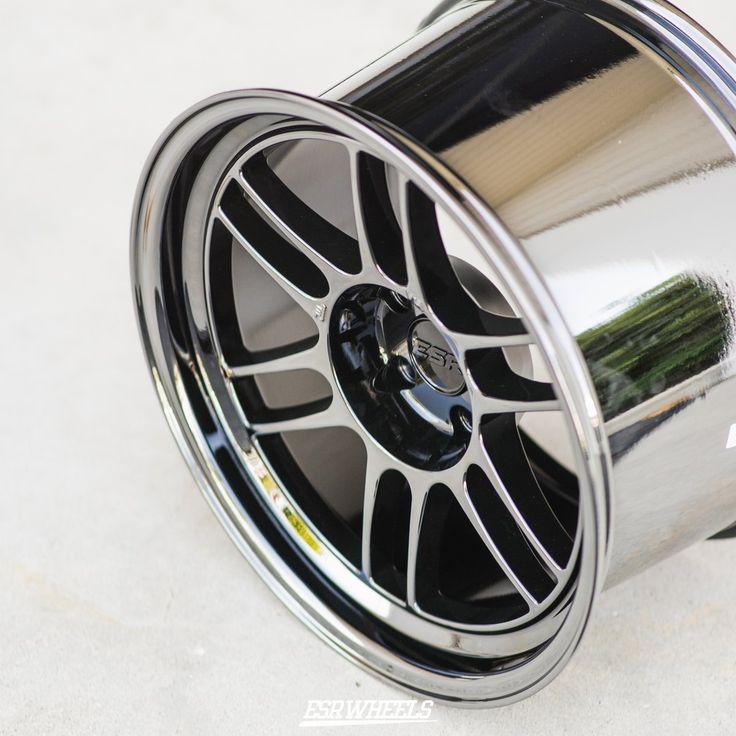 ESR SR11 Vacuum Black Chrome Wheels 18x9.5 +35 5x100