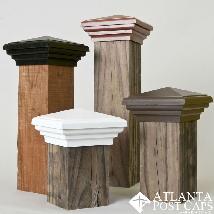 4x4 Brown Pyramid Deck and Fence Post Cap - American Made - Guaranteed For Ten Years