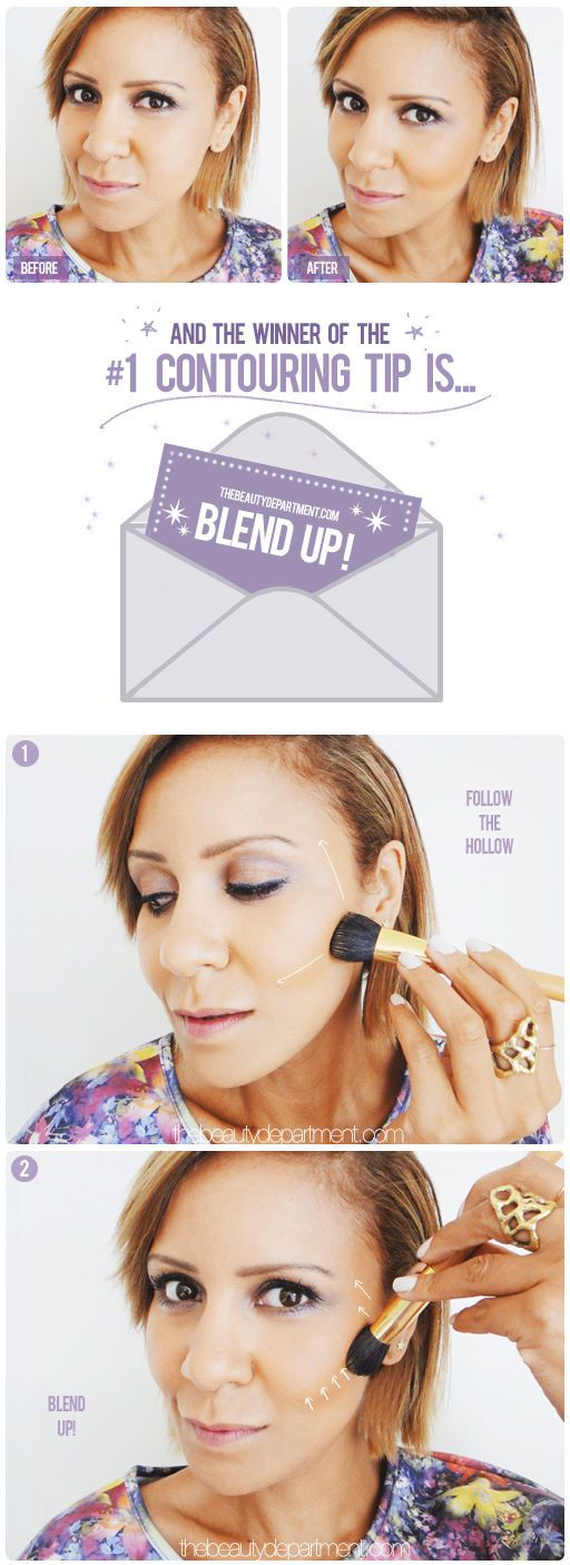Switch the angle that you hold the blush and blend UP!