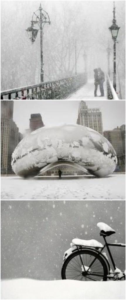 "<3 Chicago ""Bean"" - wintery walk in Grant Park"