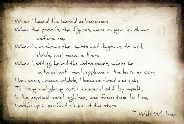 astronomy poem walt whitman - photo #3