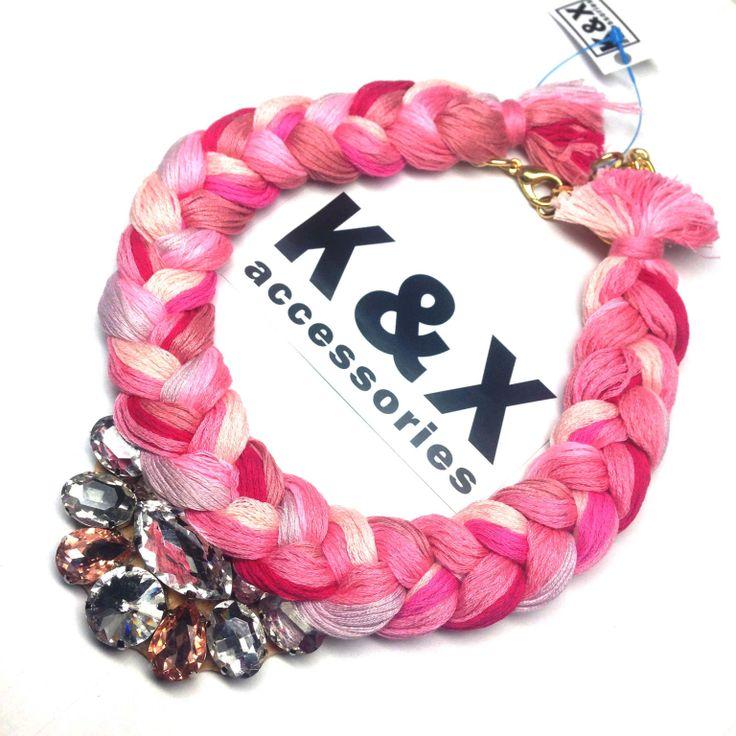 Vegas Rose  112 USD Made in Ukraine. Ready to order! #onlinestore #kxfashion #statementnecklace #ukraine #odessa #rainbow #kxvegas #pink #necklace #fashion #Jewelry #glam #fashion #handmade