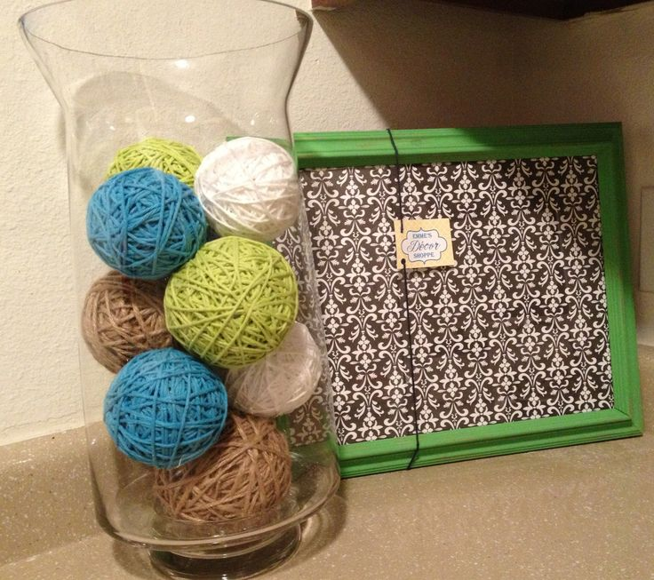Diy Decor Balls: DIY Yarn Wrapped Decorative Balls. Find Cheap Plastic