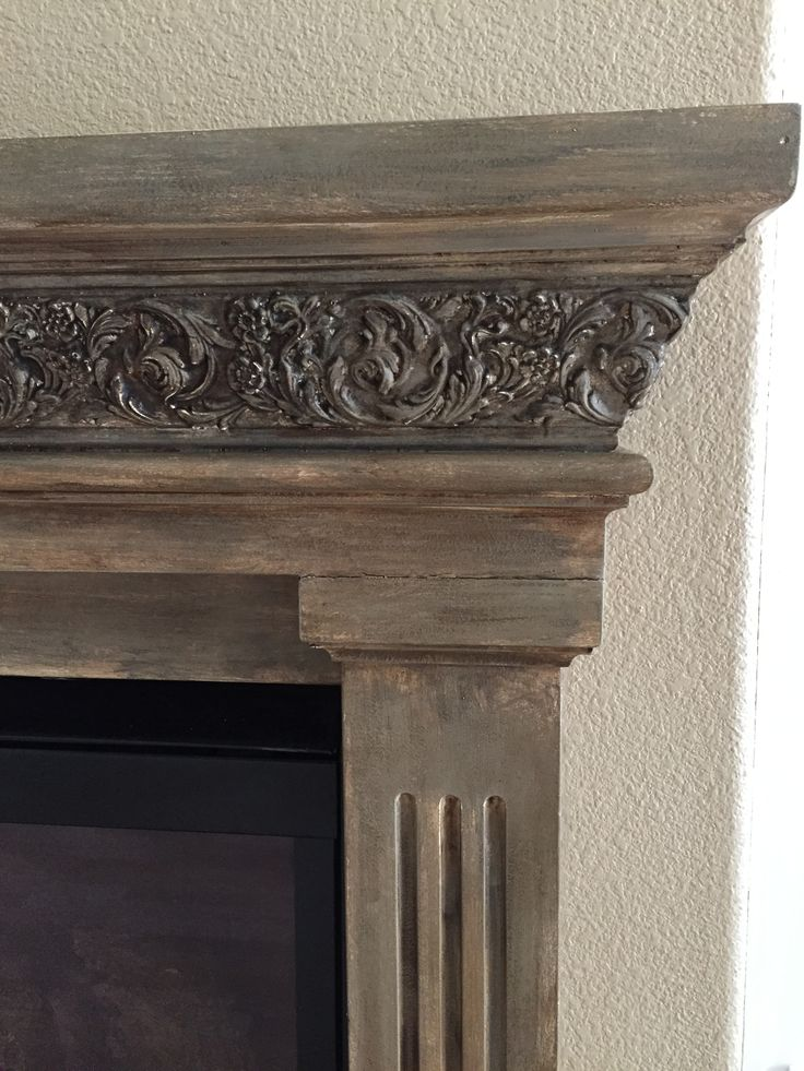 Schlafzimmer Kreativ Chalk Painted Mantle. From Bright White To Aged With Annie