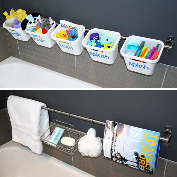 If you've been around the last couple weeks, you've seen the first two posts in the Organizing with Style series – how to organize your laundry room, and ideas for organizing with baskets & bins. This week is all about bathroom organization! The first idea is a great example of how easy organizing with style really can …