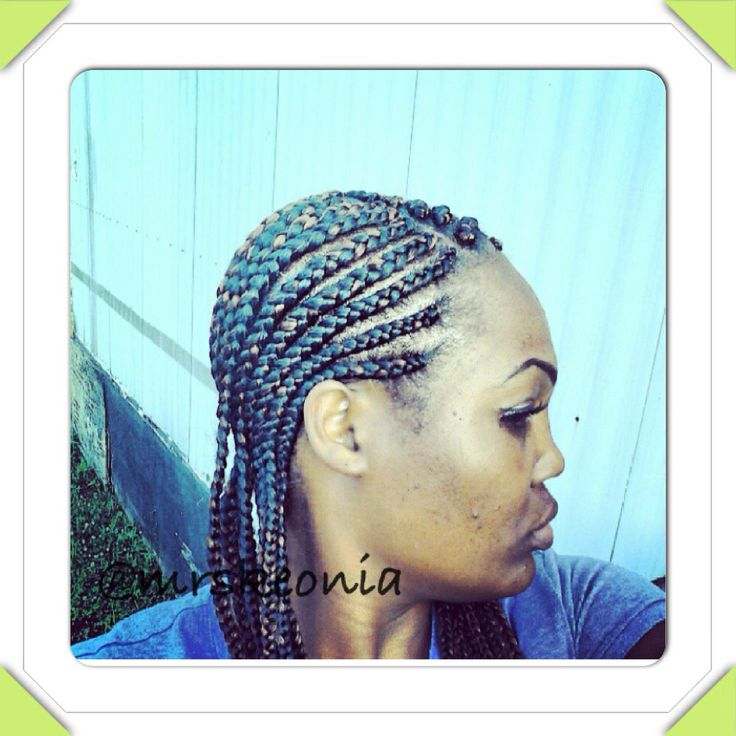 Straight Back Cornrows Medium Sized My Work Pinterest