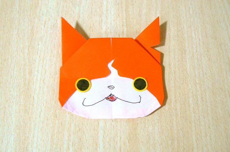 【DIY craft】JIBANYAN Yo-Kai Watch. Origami. The art of folding paper.