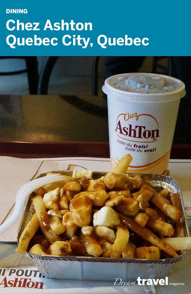 Mini Poutine in Quebec City at Chez Ashton Restaurant