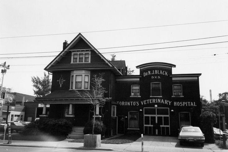 Black's Veterinary Clinic Queen street east & Carlaw avenue c1984 Toronto