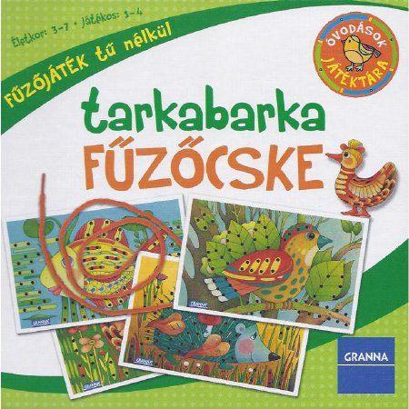 Fűzőcske játék ovisoknak, készségfejlesztő, kézügyesség fejlesztő játék