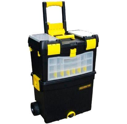 Caja plastica porta herramientas 3 ruedas crossmater for Cajas plasticas con ruedas