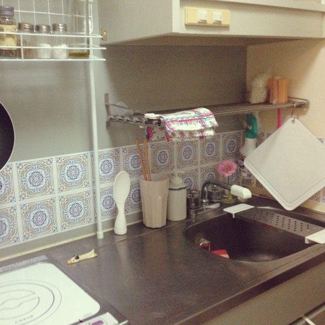 6畳/一人暮らし/一口コンロ/狭いキッチン/1K/キッチン…などのインテリア実例 - 2014-12-31 23:09:44 | RoomClip(ルームクリップ)
