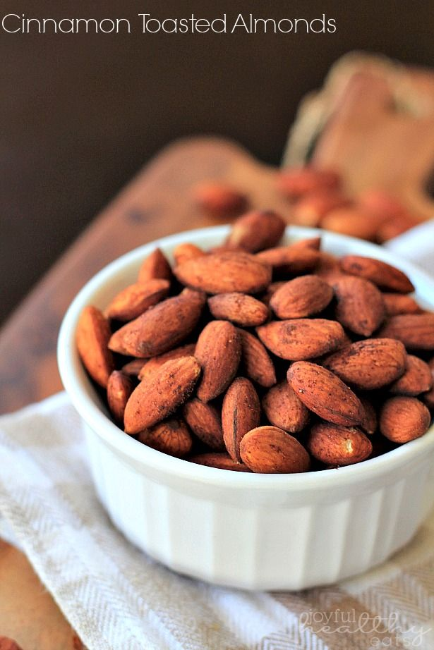 Cinnamon Toasted Almonds- 2 cups whole almonds,1 tsp cinnamon, ½ tsp salt,1 TBSP olive oil+
