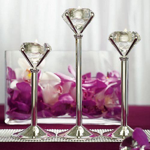 Diamond Shaped Wedding Tealight Candle Holders