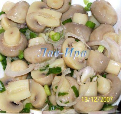 Маринованные шампиньоны на салат