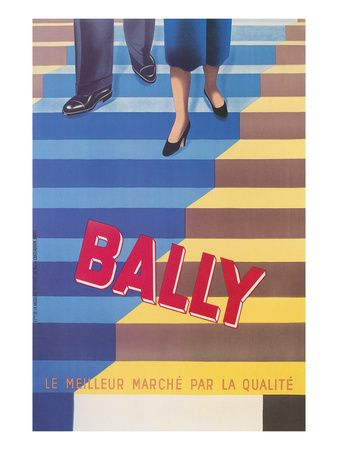 Ad for Bally Shoes, Staircase Art Print at AllPosters.com