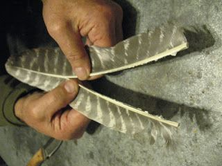 Sensible Survival: Making Arrow Fletchings from Whole Feathers