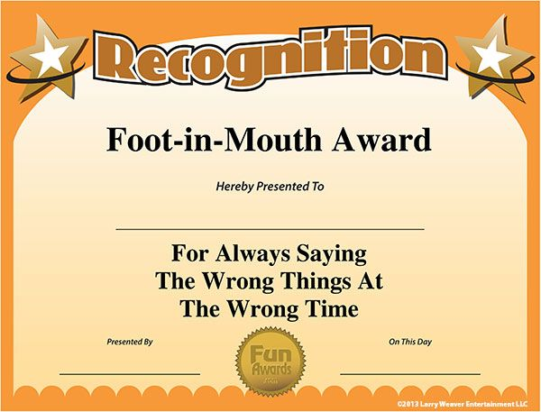 My name in big bold letters takes this award!!! When words fumble and come out completely wrong and not even close to what you mean.. Yup- that would be me :(