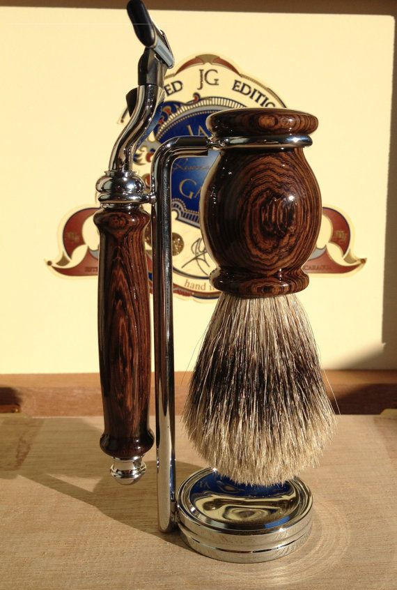 Classic Shaving Set - Burmese Blackwood