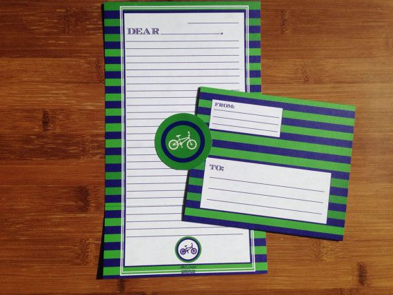 We bet he'll send you letters from Sumer Camp on our cool Preppy :: Fold&Seal Stationary - effie's paper // #preppy #summer #camp #stationery #stationary #boys #letter