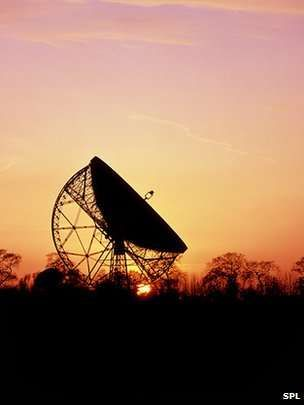 jodrell bank sunrise - Google Search - but you can't guarantee which way the dish will be facing!! Also legalities