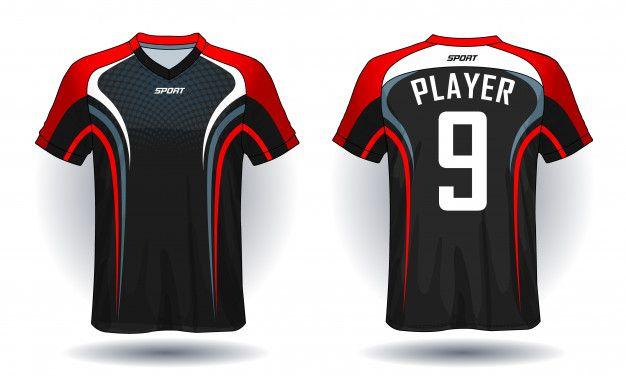 Download Soccer Jersey Template Sport T Shirt Design In 2020 Sports Tshirt Designs Soccer Jersey T Shirt