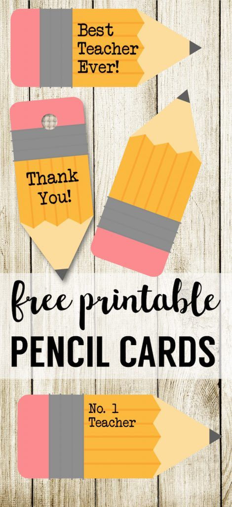 Free Printable Teacher Gift Tags Pencil 469