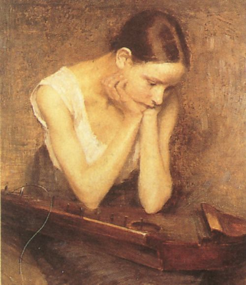 "Helene Schjerfbeck  ""The Broken String"""