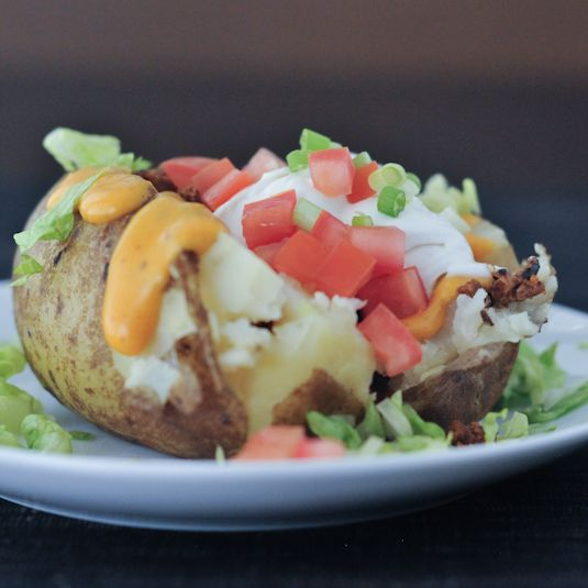 Taco Stuffed Baked Potatoes | Food and Drink | Pinterest