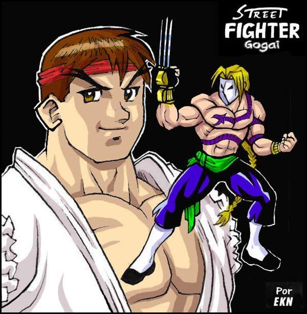STREET FIGHTER GOGAI: Ilustración de Ryu versus Vega [con Garra] por EKN