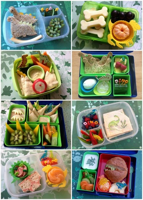 Dinosaur Food: Lots of ideas for dinosaur themed lunches for my boys from Eats Amazing UK