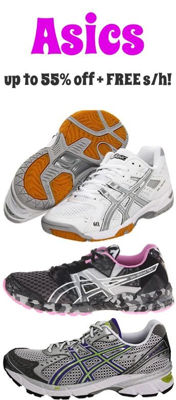 Asics Shoes Sale: up to 55% off + FREE Shipping! {score a sweet deal on new tennis shoes!}  #thefrugalgirls