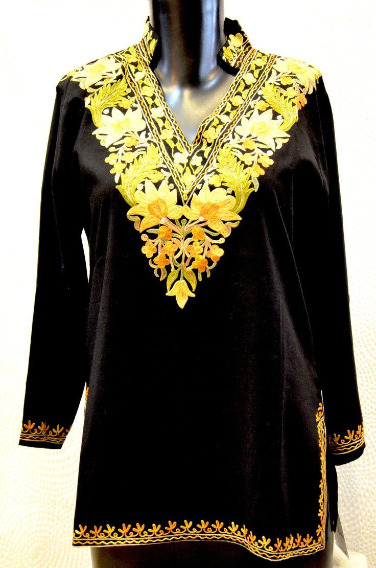 Lovely new kashmiri embroidery kurtis just in !! #kurti #kashmiri #black